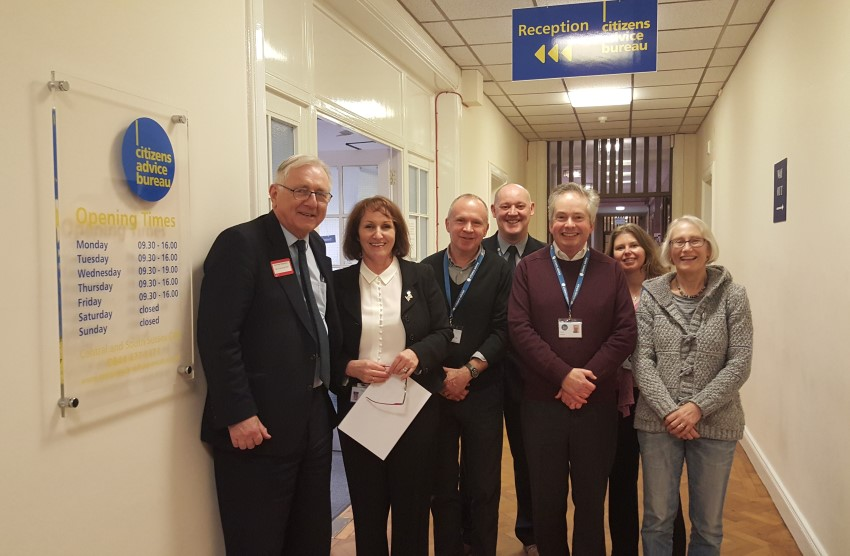 Sir Peter Bottomley MP visits Citizens Advice Worthing to discuss the big issues facing local people