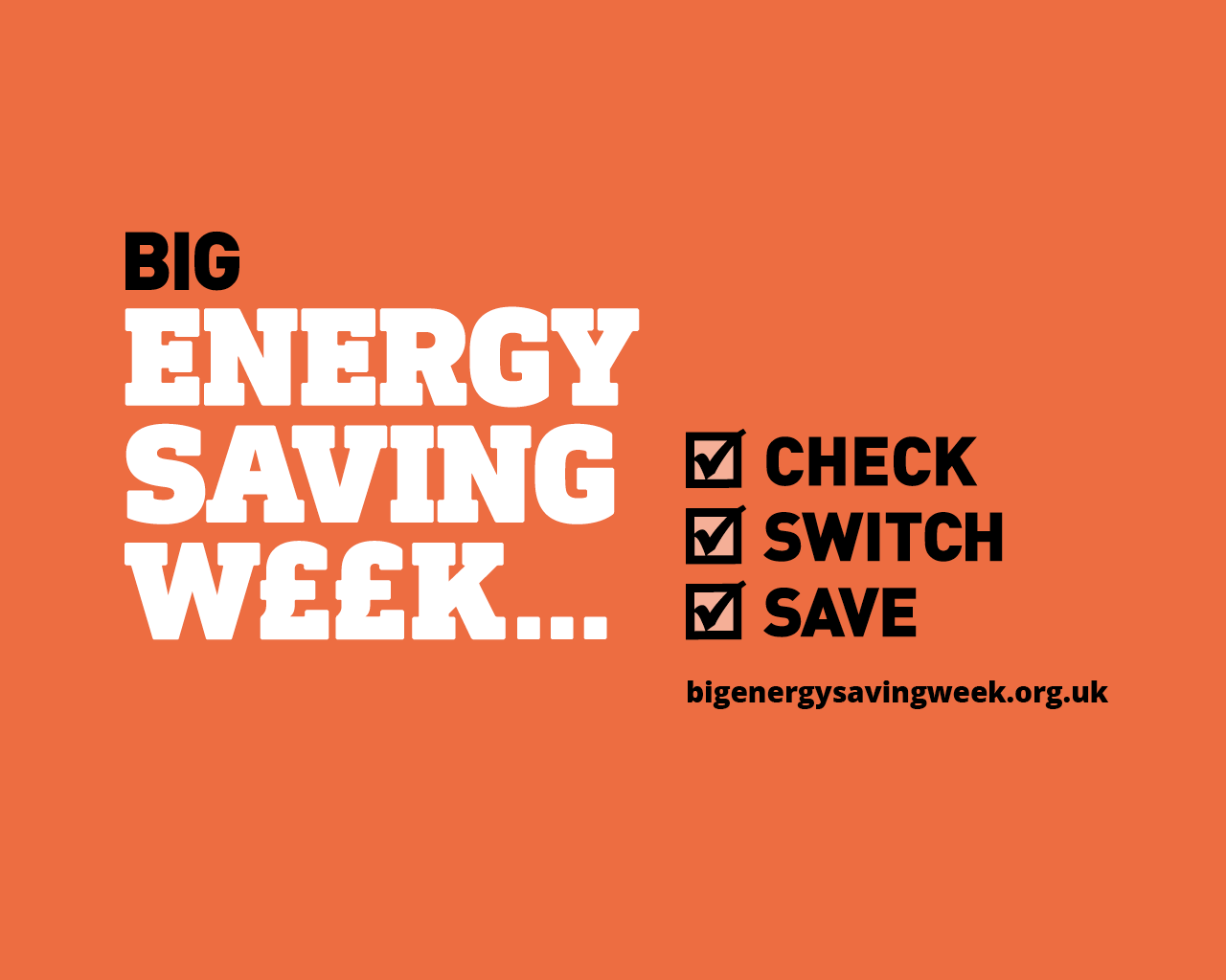 Save money on your energy bills with Big Energy Savings Week 2019!