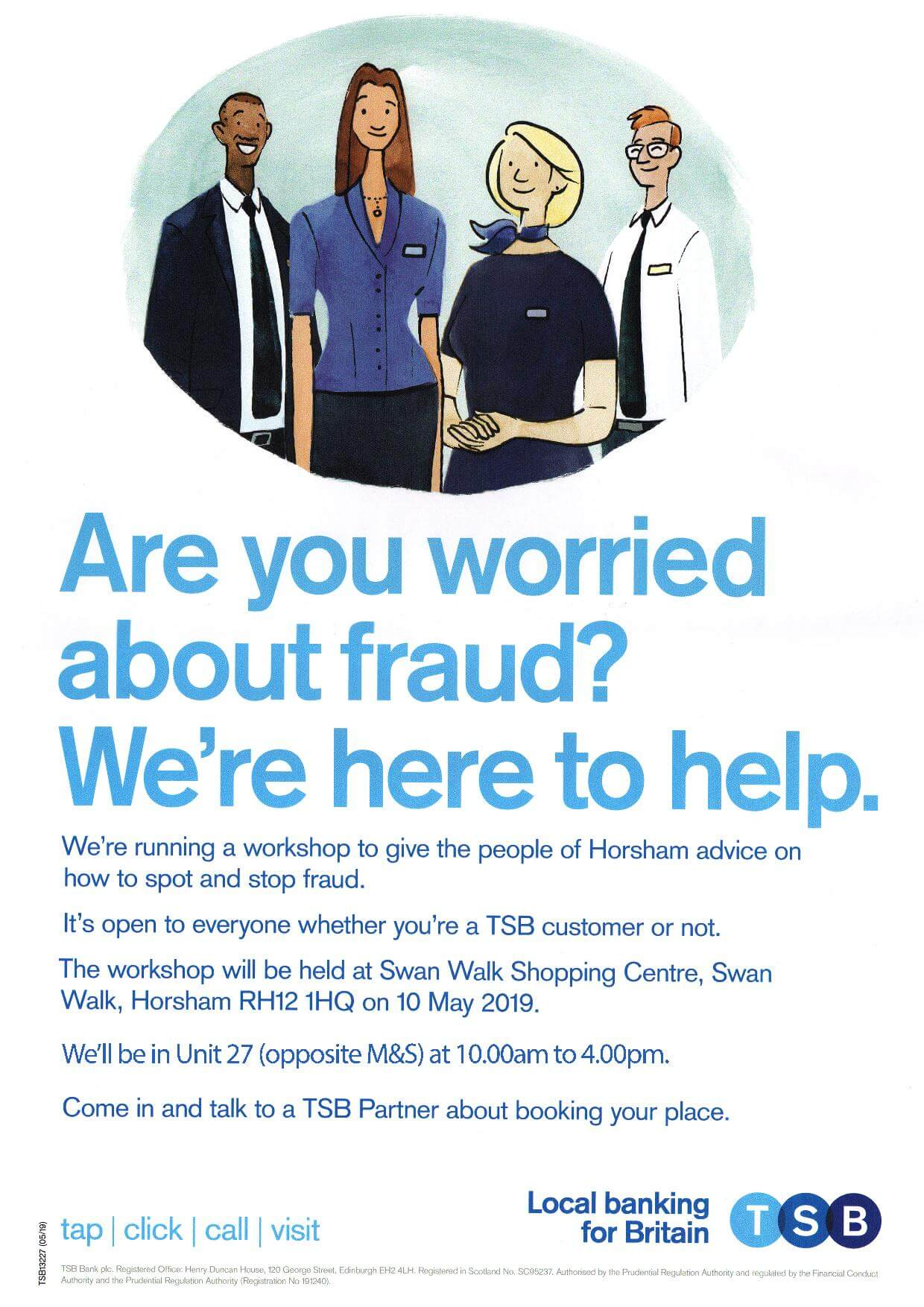 Avoid fraud – chat with us at this free event run by TSB