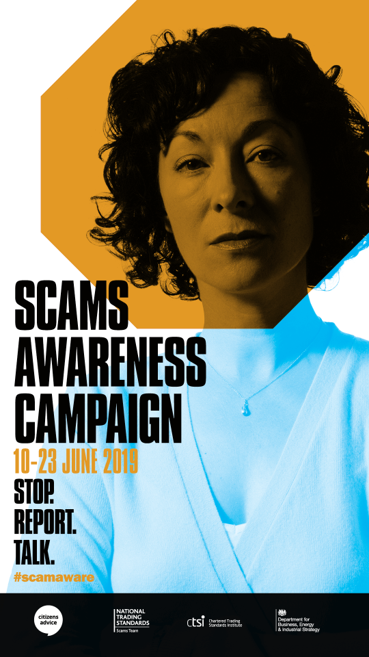 Stop, report, talk: be scam aware – it's Scams Awareness Month