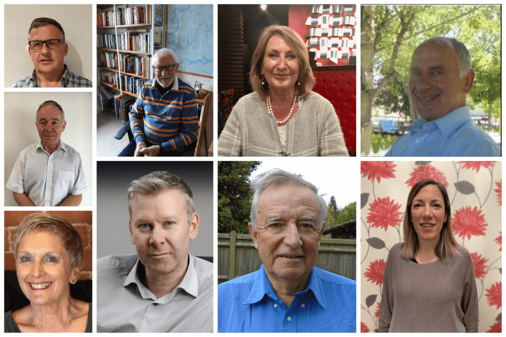 Photo collage of the Trustees of Citizens Advice in West Sussex (North, South, East), November 2020