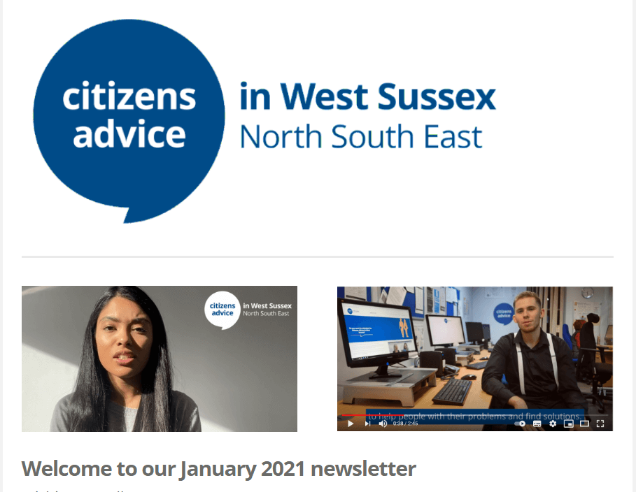 Our January 2021 newsletter