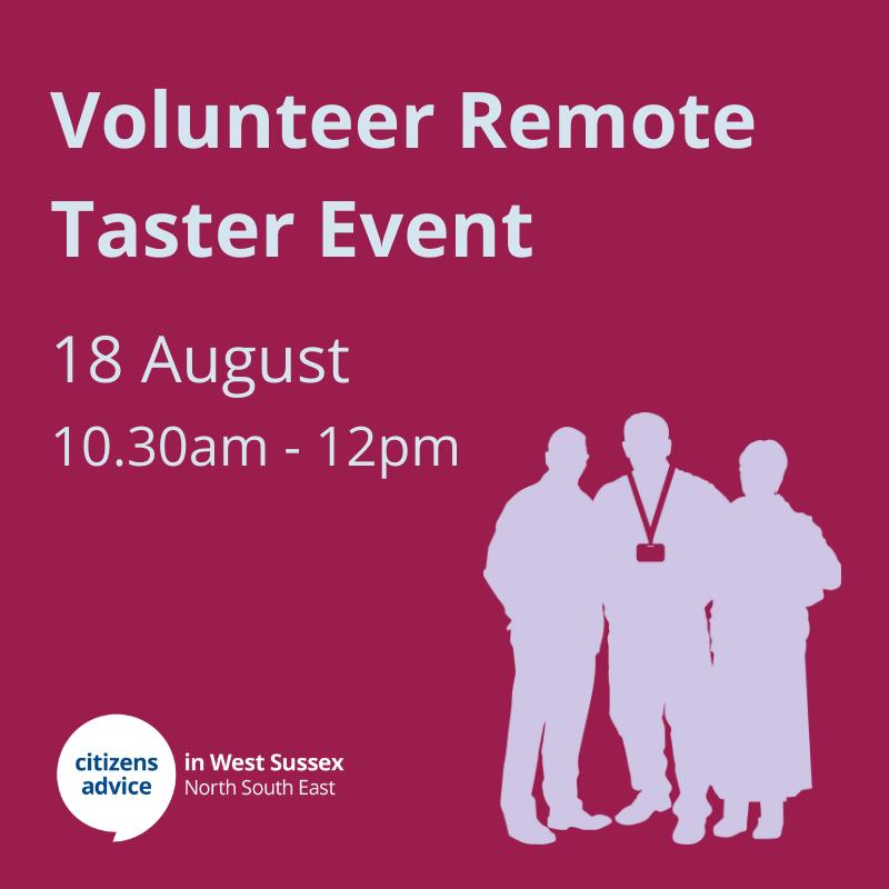 Volunteer Remote Taster Event
