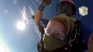 Laura takes the leap to raise money for us!